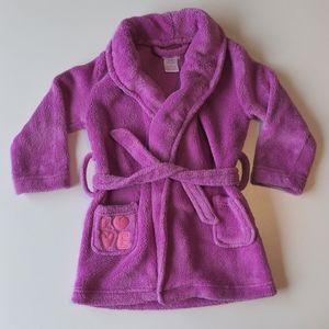 Joe Fresh Purple Love Toddler Fleece Robe * 3T